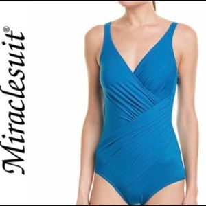 🛍Miraclesuit Blue One-piece Swimsuit